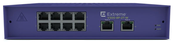 Extreme Networks ExtremeSwitching V300-8P-2T-W Edge Switch