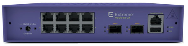 Extreme Networks ExtremeSwitching V300-8T-2X Edge Switch
